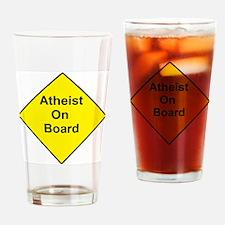 Atheist On Board Drinking Glass