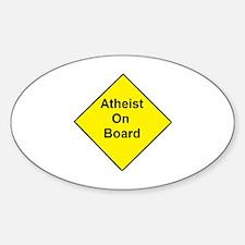 Atheist On Board Sticker (Oval)