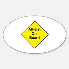 Atheist On Board Stickers