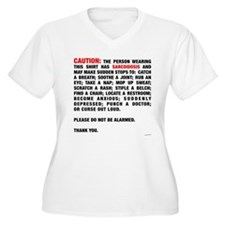 Caution: Plus Size T-Shirt