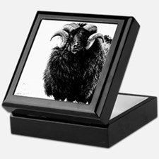 Black Ram Keepsake Box