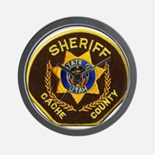 Cache County Sheriff Wall Clock