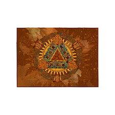 Celtic Pyramid Mandala 5'x7'Area Rug