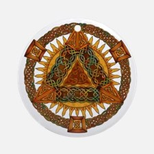 Celtic Pyramid Mandala Ornament (Round)