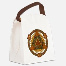 Celtic Pyramid Mandala Canvas Lunch Bag