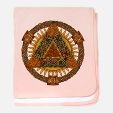 Celtic Pyramid Mandala baby blanket