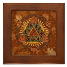 Celtic Pyramid Mandala Framed Tile
