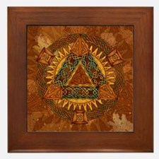 Celtic Pyramid Mandala Framed Tile