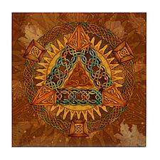 Celtic Pyramid Mandala Tile Coaster