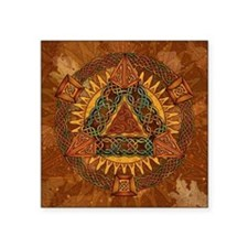 "Celtic Pyramid Mandala Square Sticker 3"" x 3"""
