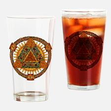 Celtic Pyramid Mandala Drinking Glass