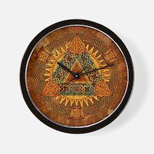 Celtic Pyramid Mandala Wall Clock