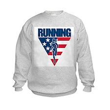 Marathon Flag Running Sweatshirt