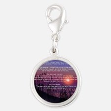 Footprints in the Sand Silver Round Charm
