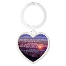 Footprints in the Sand Heart Keychain