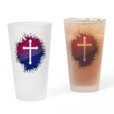 Bisexual Pride Cross Drinking Glass