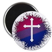 Bisexual Pride Cross Magnet
