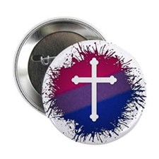 """Bisexual Pride Cross 2.25"""" Button (100 pack)"""