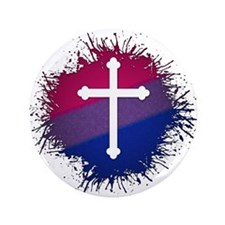 """Bisexual Pride Cross 3.5"""" Button (100 pack)"""