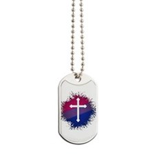 Bisexual Pride Cross Dog Tags