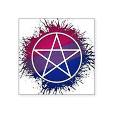 "Bisexual Pride Pentacle Square Sticker 3"" x 3"""