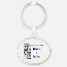 Non-recovering Book-a-holic Oval Keychain
