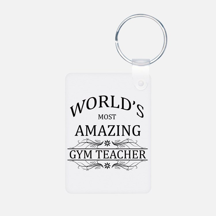 World's Most Amazing Gym T Keychains