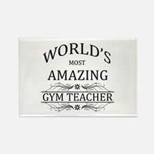 World's Most Amazing Gym Teacher Rectangle Magnet