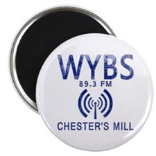"""WYBS Radio Under the Dome 2.25"""" Magnet (100 pack)"""