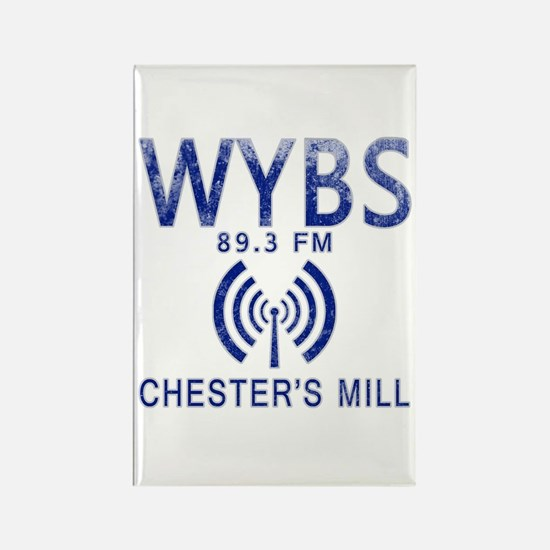 WYBS Radio Under the Dome Rectangle Magnet