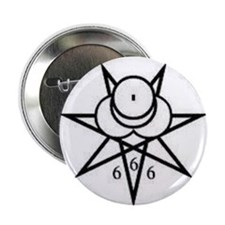 """SIGIL OF THE GREAT BEAST 2.25"""" Button"""