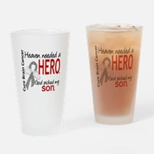 Brain Cancer Heaven Needed Hero 1.1 Drinking Glass