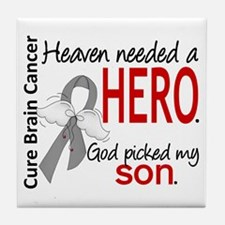 Brain Cancer Heaven Needed Hero 1.1 Tile Coaster