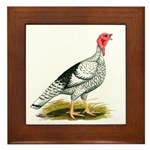 Royal Palm Hen Turkey Framed Tile
