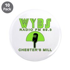 """WYBS FM Under the Dome 3.5"""" Button (10 pack)"""