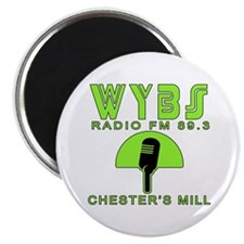 """WYBS FM Under the Dome 2.25"""" Magnet (100 pack)"""
