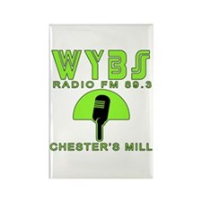 WYBS FM Under the Dome Rectangle Magnet