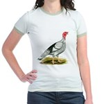 Royal Palm Hen Turkey Jr. Ringer T-Shirt