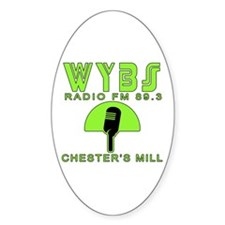 WYBS FM Under the Dome Decal