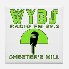 WYBS FM Under the Dome Tile Coaster