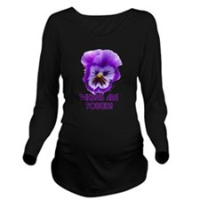 PANSIES ARE TOUGH! Long Sleeve Maternity T-Shirt