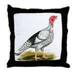 Royal Palm Hen Turkey Throw Pillow