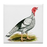 Royal Palm Hen Turkey Tile Coaster