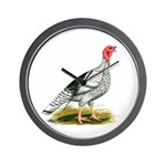 Royal Palm Hen Turkey Wall Clock