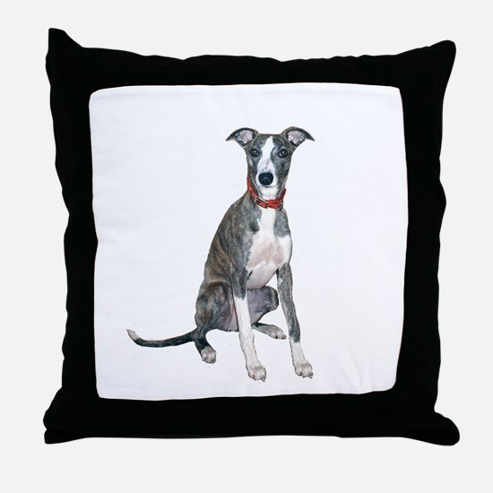 Whippet #1 Throw Pillow