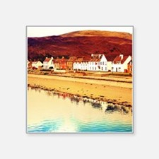 Scottish Coastal Village 1 Sticker