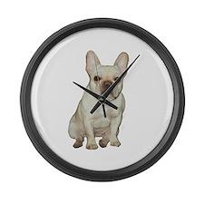 French Bulldog (#1) Large Wall Clock