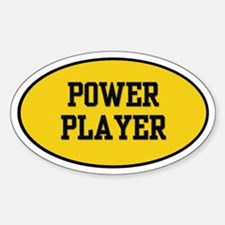 Power Player 1.0 Oval Decal