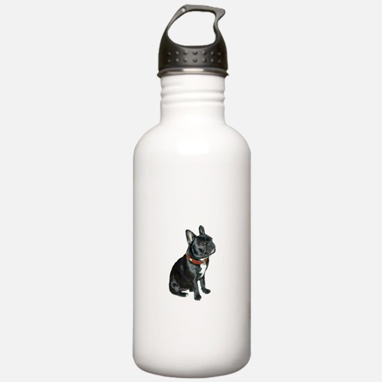 French Bulldog (blk2) Water Bottle