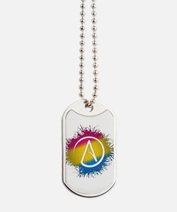 Pansexual Pride Atheist Dog Tags